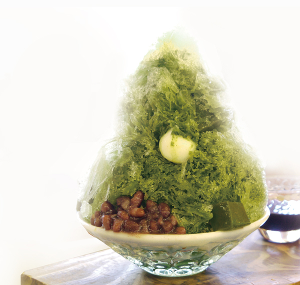 「純冰刨冰(抹茶紅豆湯圓)」(1080日圓)