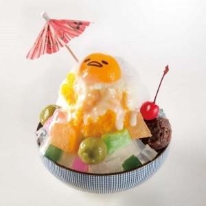 「ぐでらっくす かき氷/マンゴーミルク」(1242円)