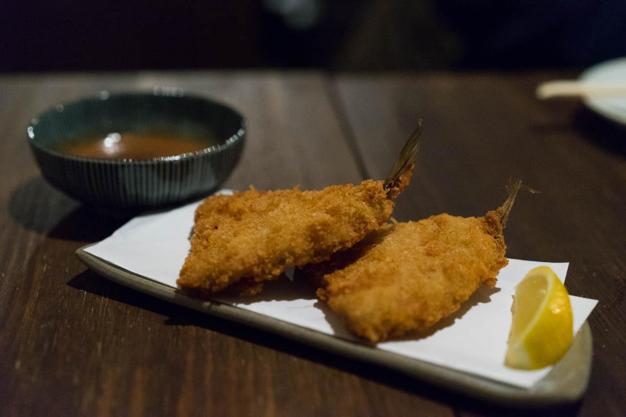 居酒屋本庄Retro 燈-炸竹筴魚