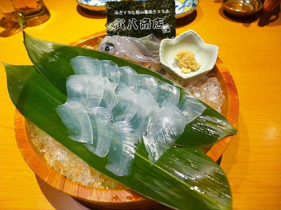 大阪海鮮料理 寅八商店-烏賊生魚片