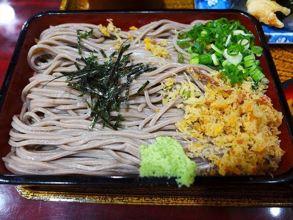 大阪味万 本店-天婦羅飯糰蕎麥麵定食