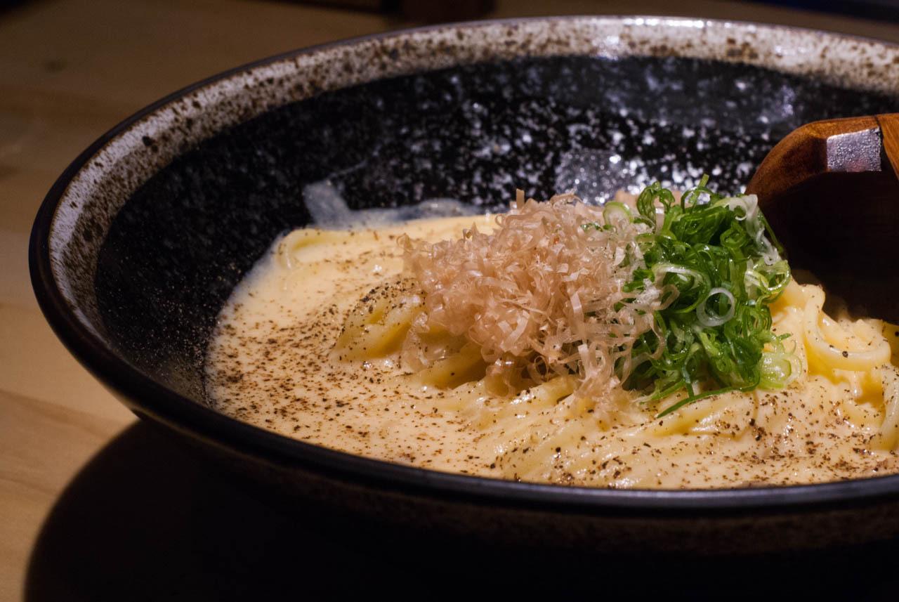 京都啤酒吧ICHI-YA-豆乳培根蛋麵