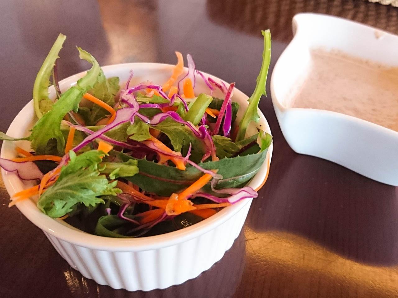 大阪斯里蘭卡料理AMBALAMA-咖哩套餐沙拉