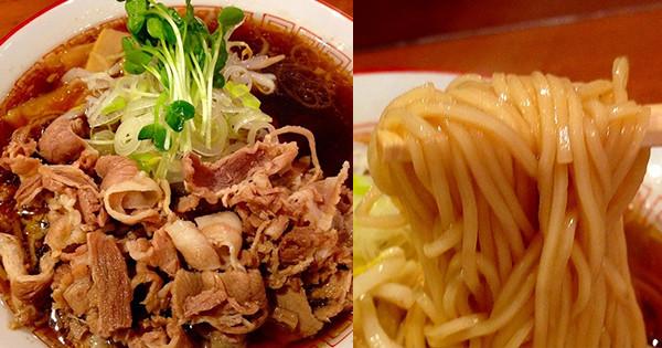 惠美須町『清麵屋』的和風醬油肉片湯麵!