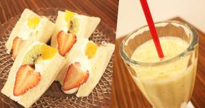 千成屋綜合果汁與水果三明治