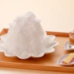 天然氷「白い山 モンブランかき氷」