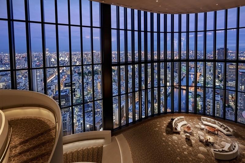可以從全客房&公共空間眺望大阪市景。『希爾頓』的豪華版『CONRAD港麗飯店(コンラッド)』在大阪開幕!