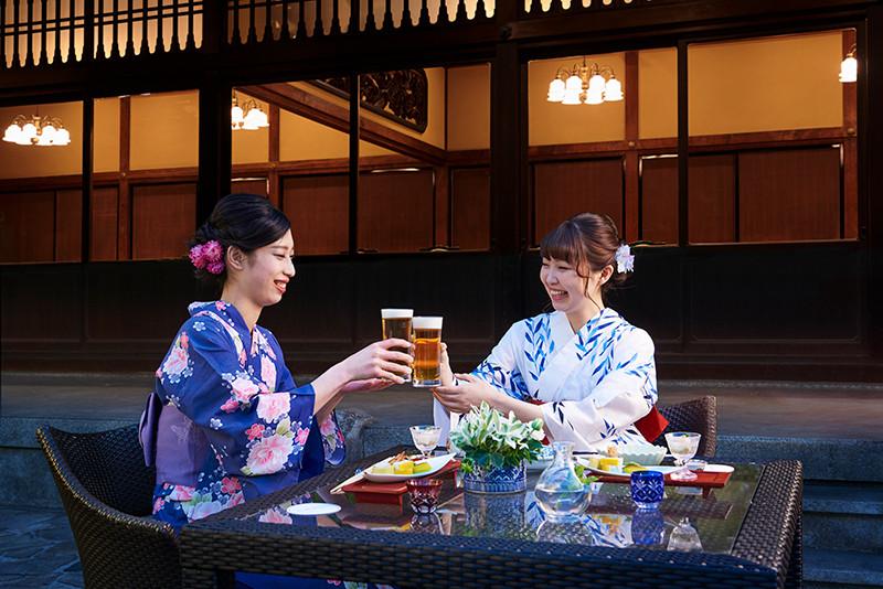 【附優惠券】在大阪城附近的日本庭園『太閤園』内和食料亭『淀川邸』,邊眺望庭園邊享受正式的日本宴席料理!