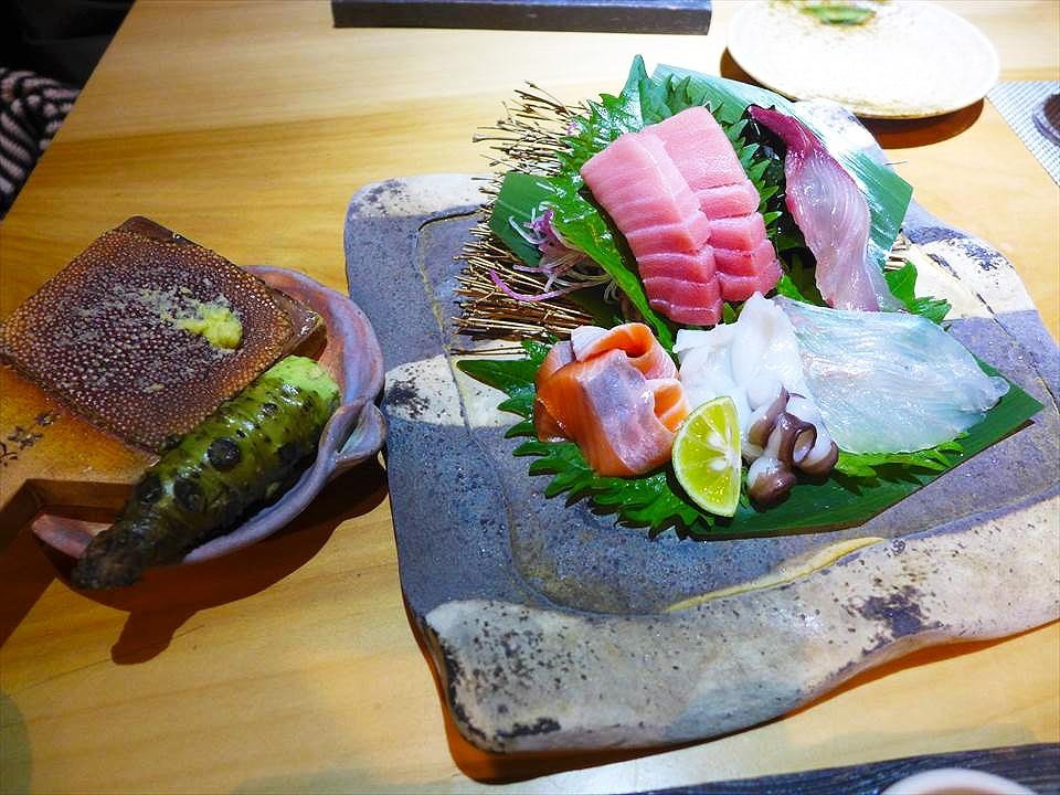 綜合生魚片5樣拼盤