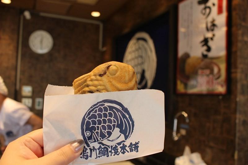 脆脆的薄皮內包滿甜餡!『鳴門鯛焼本舗 天神橋3丁目店』的「天然鯛魚燒」