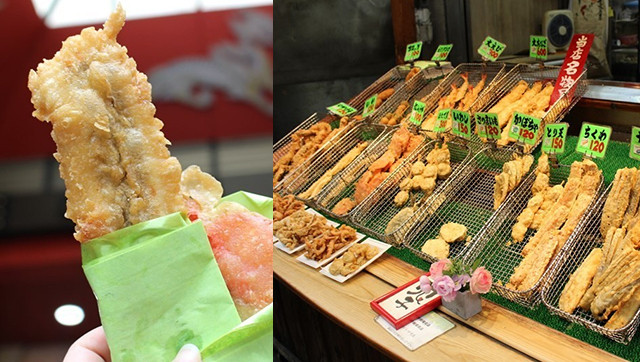 招牌是、巨大的海鰻天婦羅「大海鰻(大あなご)」和母親般溫柔的笑容!黑門市場『日進堂』