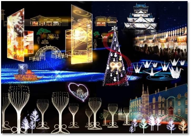 大阪城燈光秀