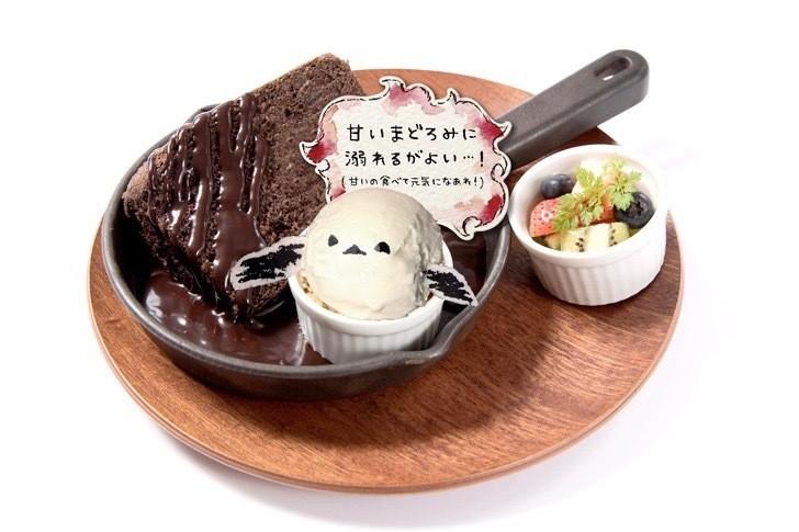 正能量企鵝主題咖啡廳-巧克力蛋糕