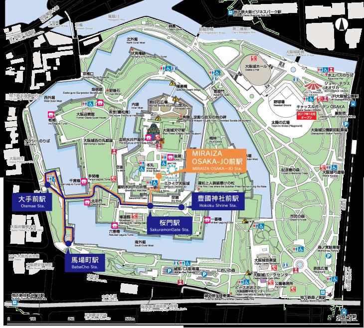 大阪城公園路面小火車-路線