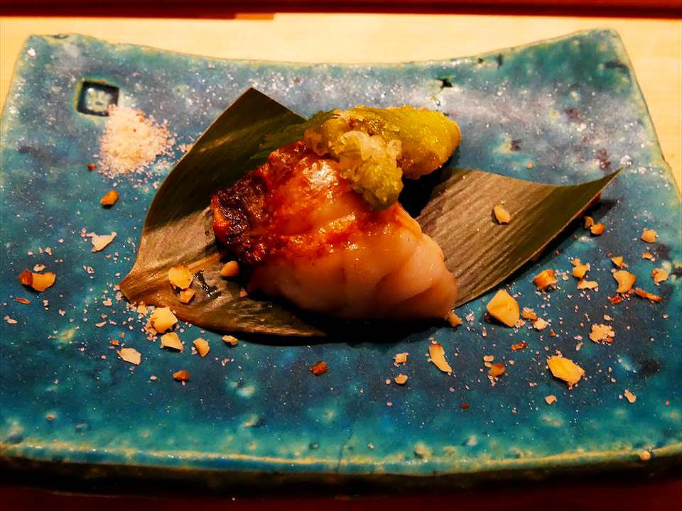 神戶中華街握壽司鮨 Shunpei鮨しゅんぺい-鹽烤馬頭魚