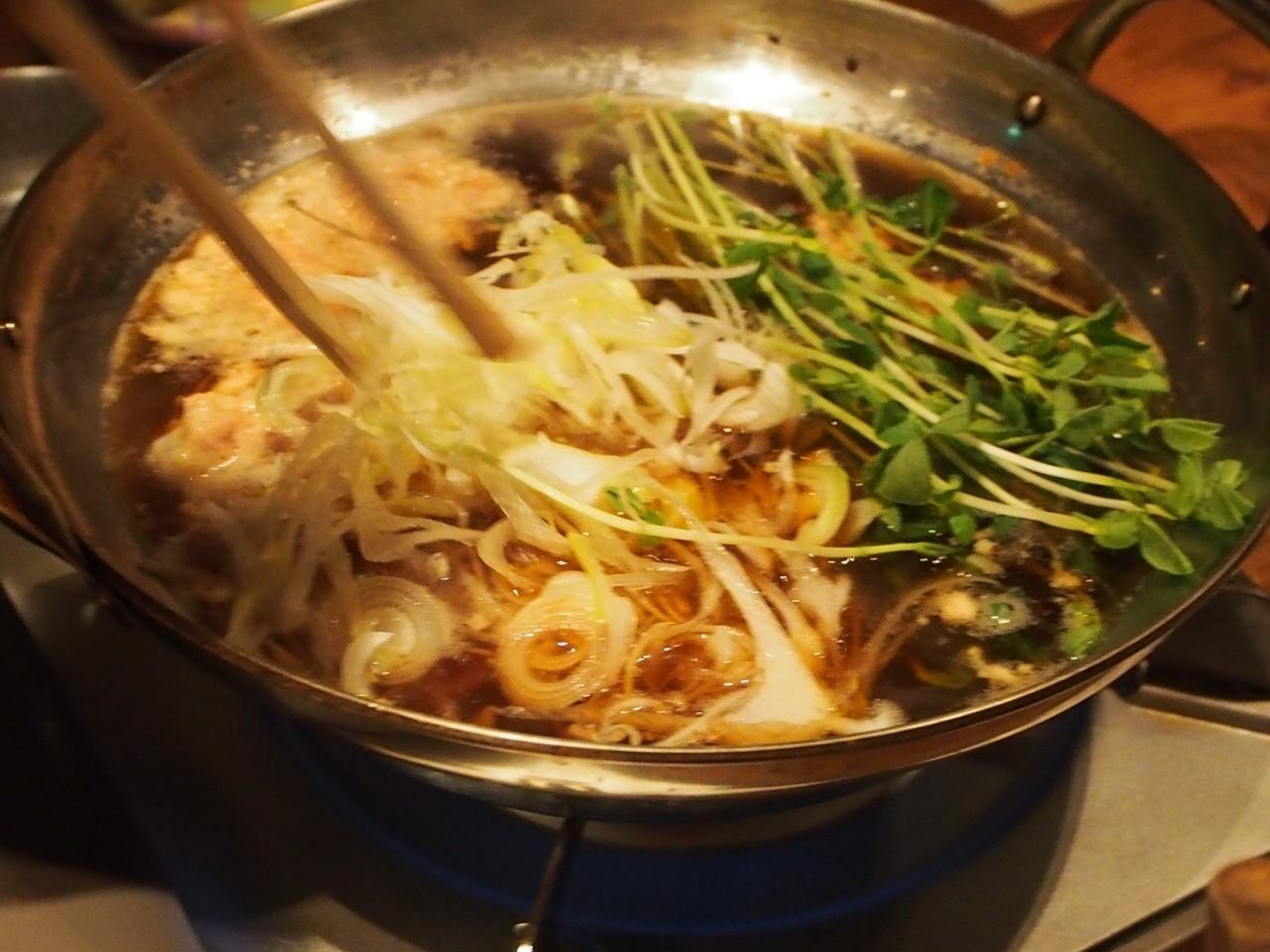 豆苗鴨肉鍋