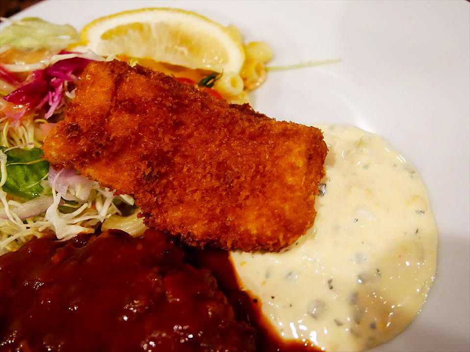 洋食 FUKUMOTO漢堡排套餐炸魚