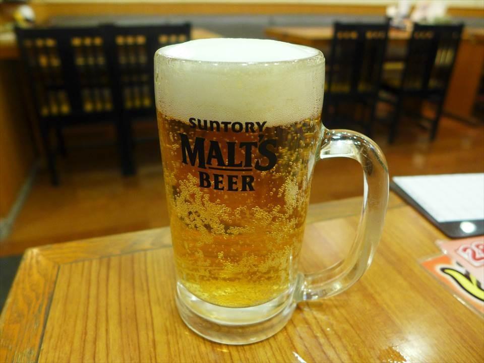 中杯生啤酒