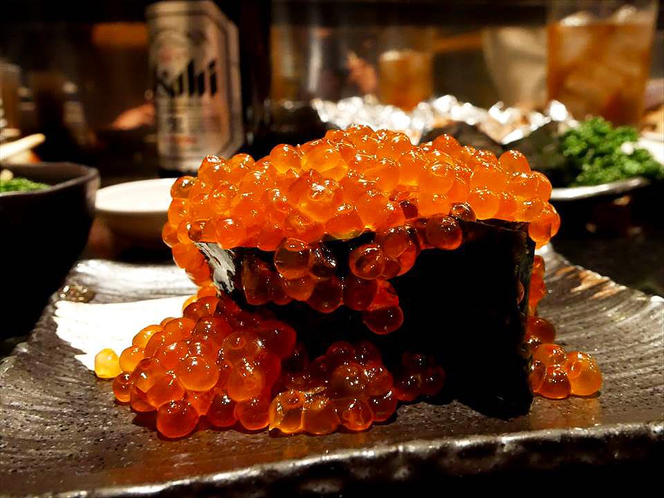 日本用料豐富鮭魚卵