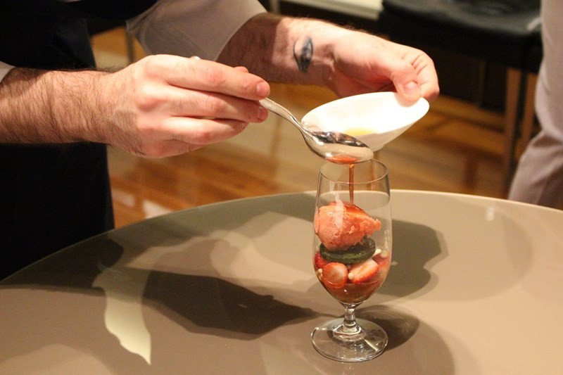 義式甜點BVLGARI IL CAFE-草莓與抹茶