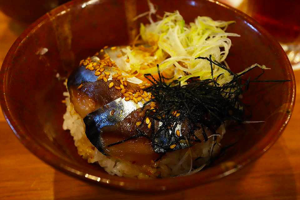胡麻鯖魚丼