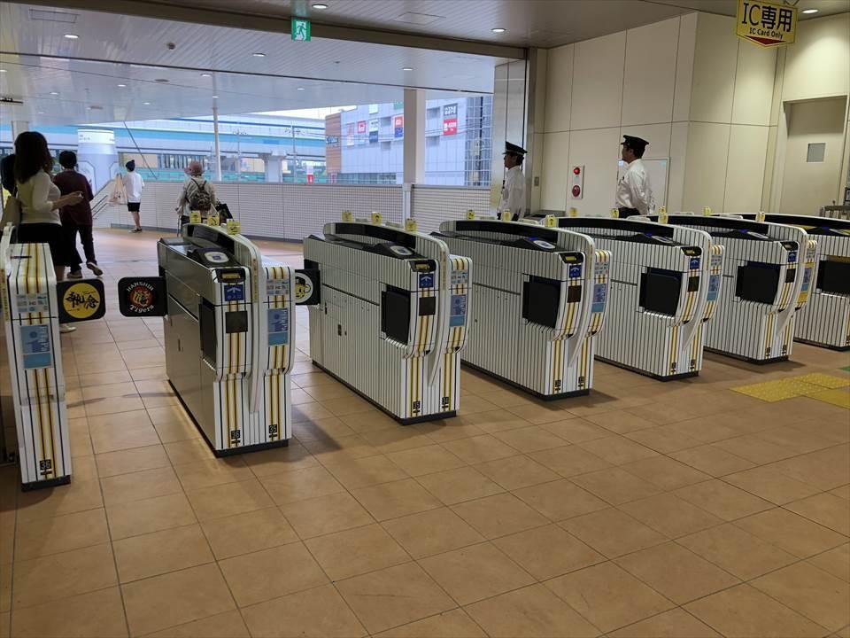 阪神電車甲子園改札口