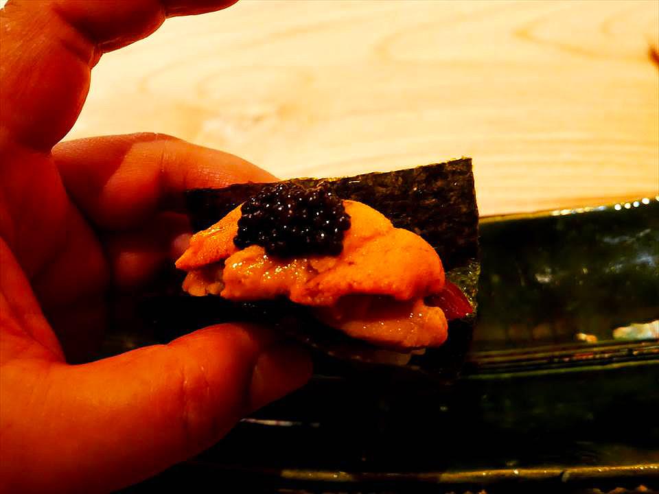 高級魚子醬海膽