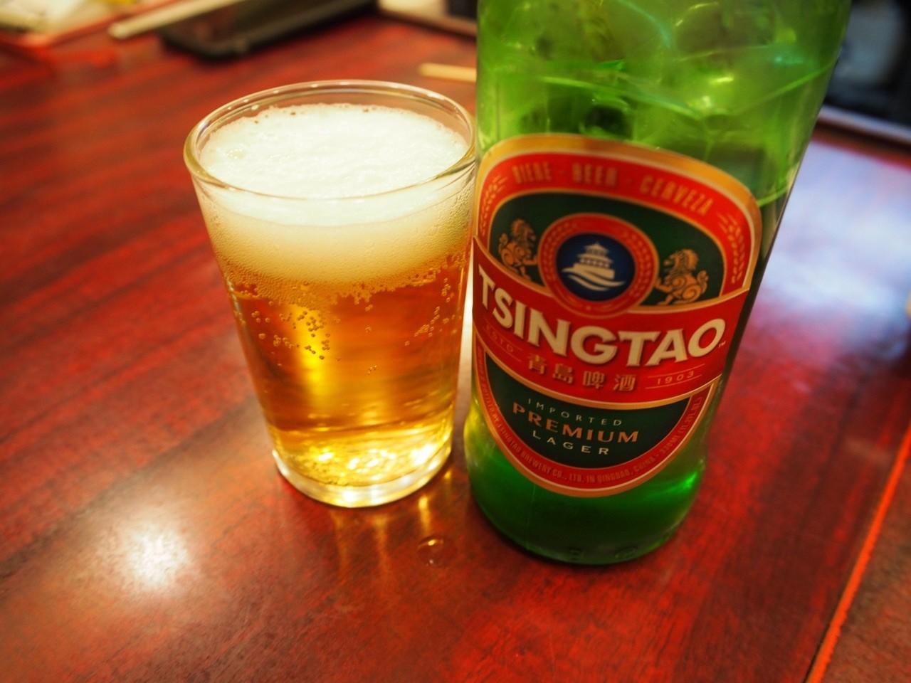 大阪京橋上海料理青島啤酒