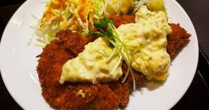 塔塔醬炸雞排午餐