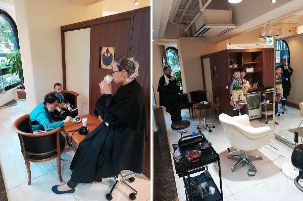美髮店等待區