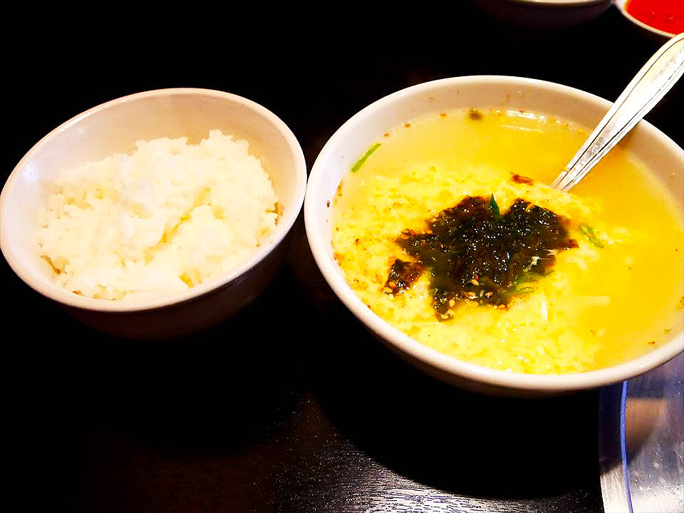 白飯蛋花湯