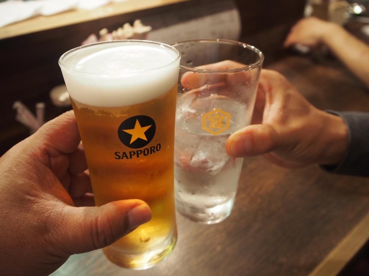 大阪居酒屋Nanchat亭的eri生啤酒