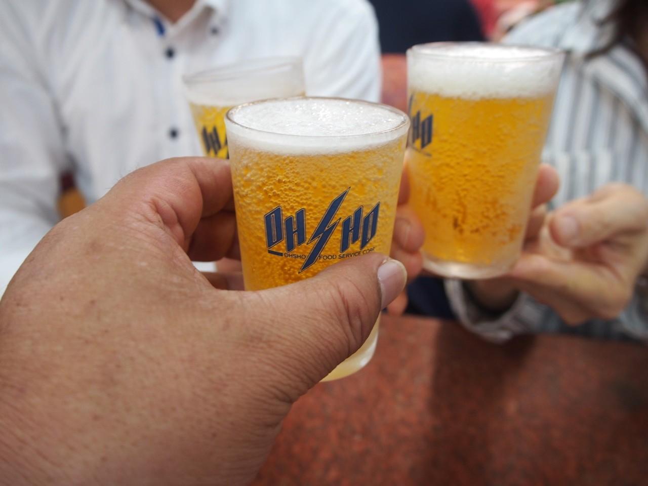 朝日啤酒乾杯