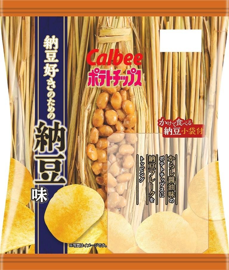 日本限定calbee卡樂比納豆洋芋片