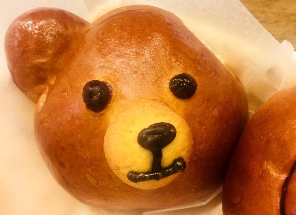 手工製作小熊麵包表情