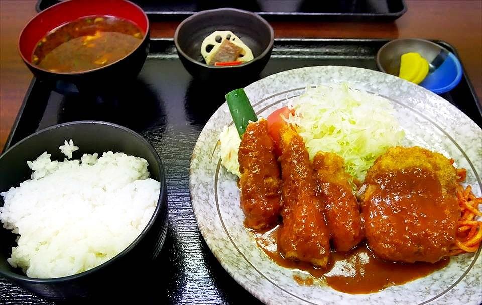 長居『豬排 本田(とんかつ 本田)』CP值超高的大份量午間定食♪