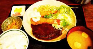 SAKAMOTO炸蝦漢堡排套餐