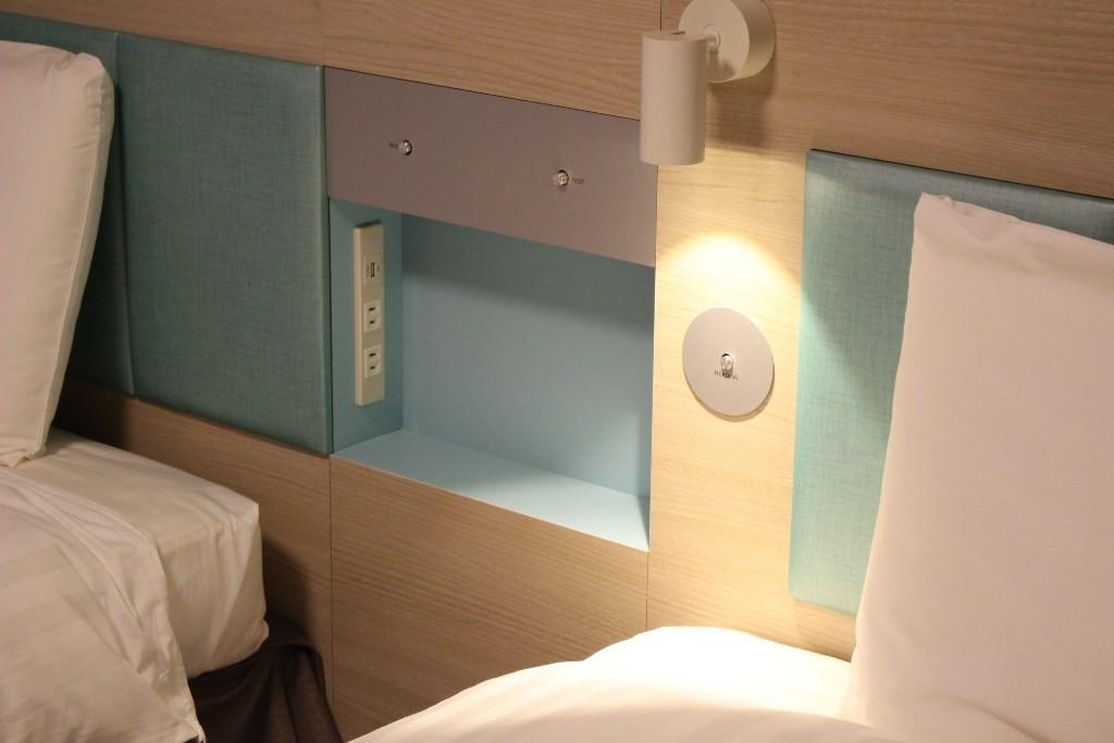 室內許多地方都設有插座。