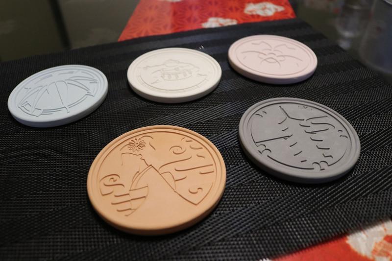 JapanFeeling赤瓦杯墊(赤瓦コースター)(櫻花/相撲/竹/白檀/安息香・各1,980日圓)