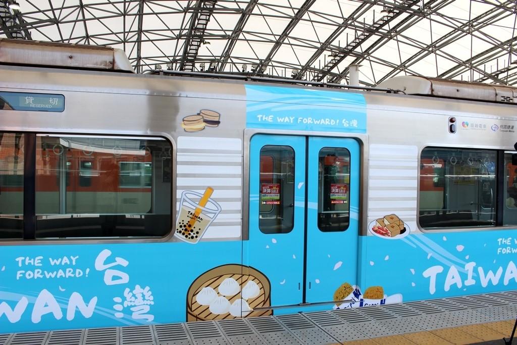 5号車に描かれているのは、小龍包にタピオカドリンク、臭豆腐など日本人にもお馴染みの台湾グルメ!