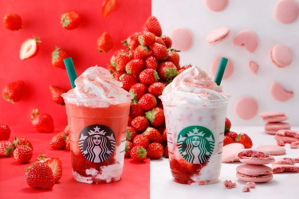 """去年『星巴克』引起廣大迴響的「非常草莓味」星冰樂限定飲品,以""""草莓雙胞胎""""之姿重新登場!"""