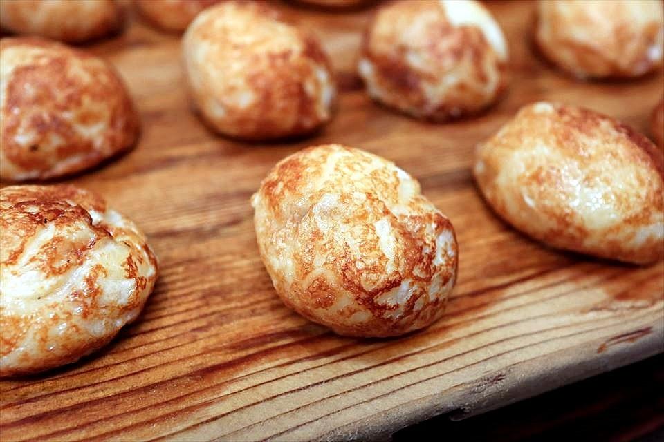表面酥脆,內層滑嫩♡鰹魚高湯與玉子燒的完美組合!明石『Tako磯(たこ磯)』