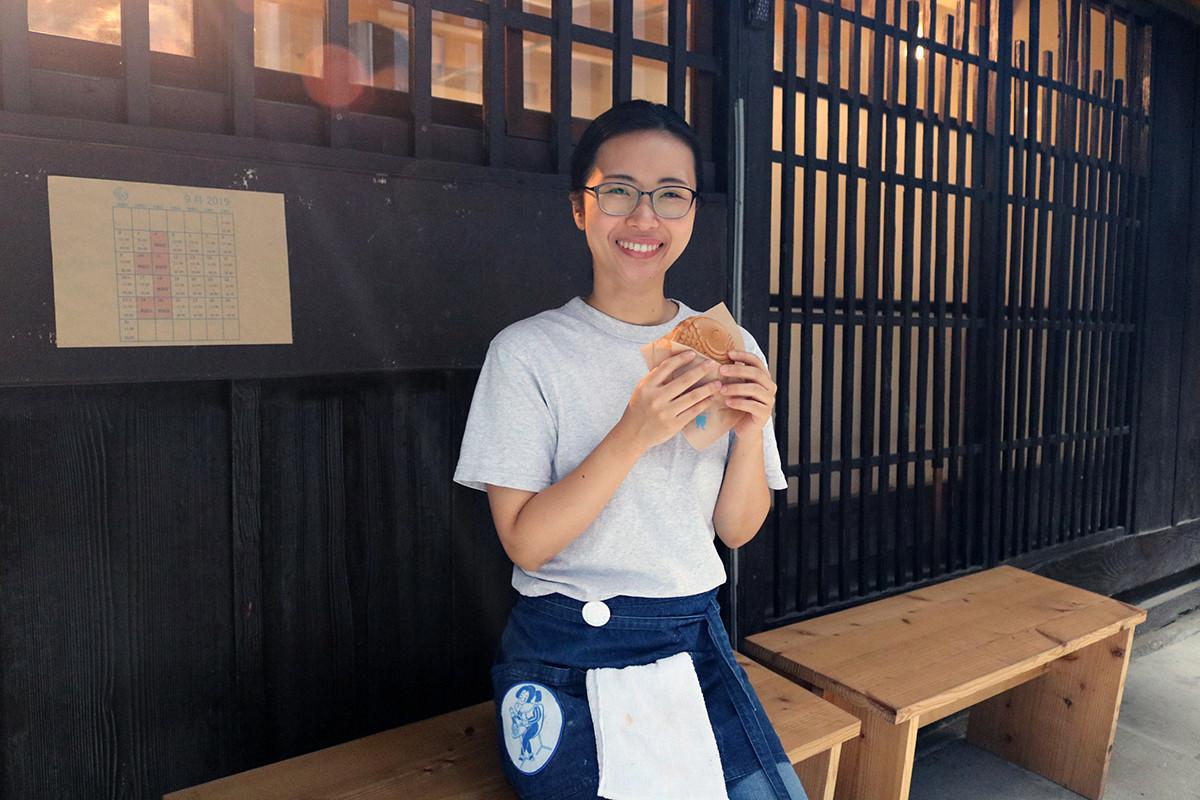京都美食|到巷弄裡的私房店家來份上鏡可口的鯛魚燒!烏丸『Amairo Cafe Taiyaki(あまいろコーヒーとたい焼き)』