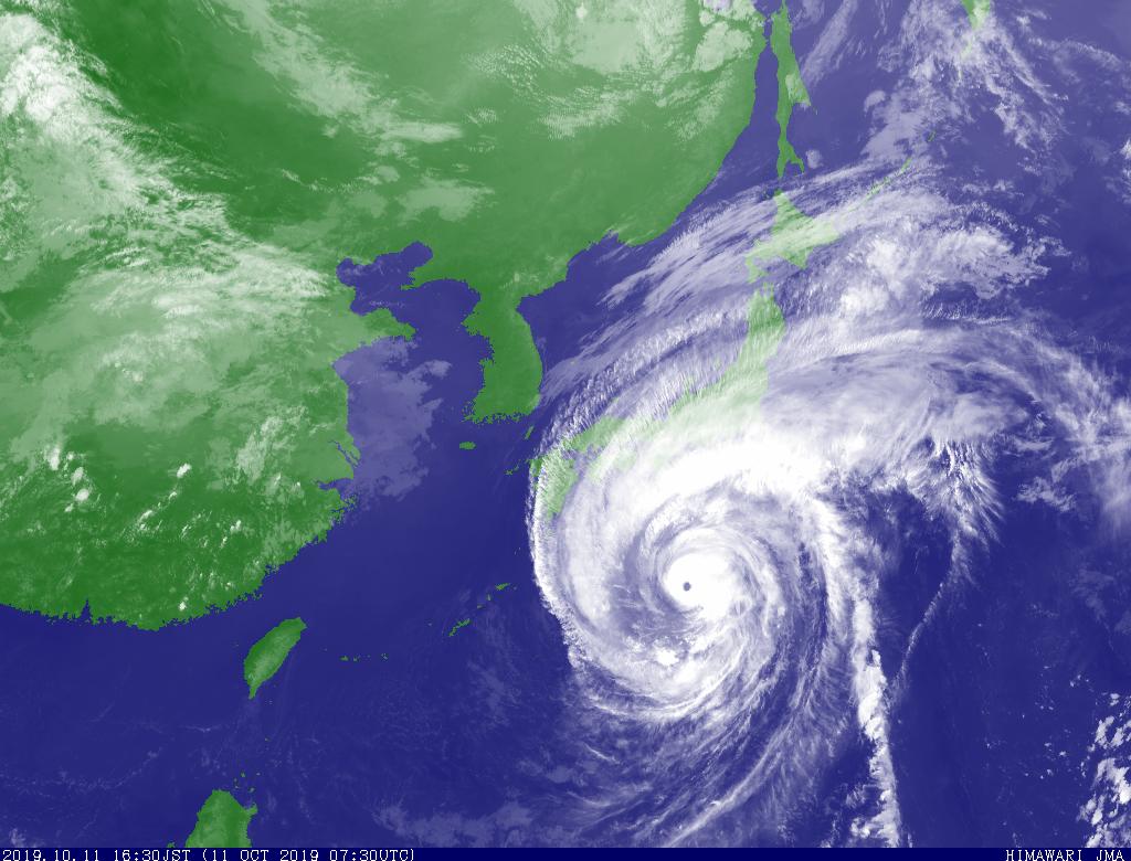 【第19號颱風哈吉貝】2019.10.11(五)17:00