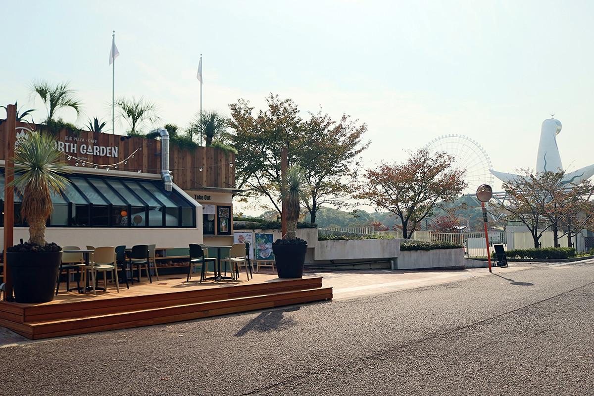 大阪美食 『萬博紀念公園(万博記念公園)』裡的『窯烤PIZZA・CAFE NORTH GARDEN(薪窯PIZZA・CAFE NORTH GARDEN)』是一家擁有豐富餐點的咖啡館