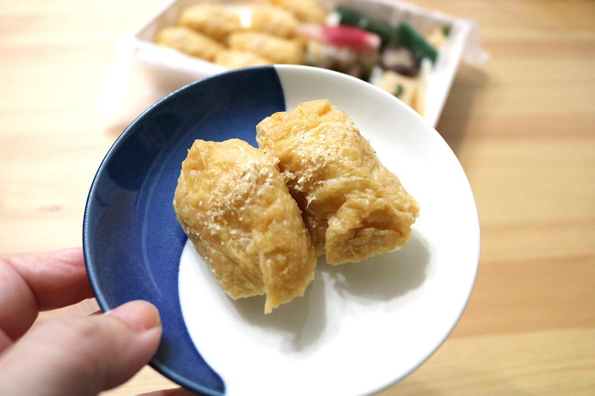 大阪美食|『一口豆皮壽司MUROYA(一口いなりむろや)』的迷你壽司,柚子香氣令人難以抗拒!